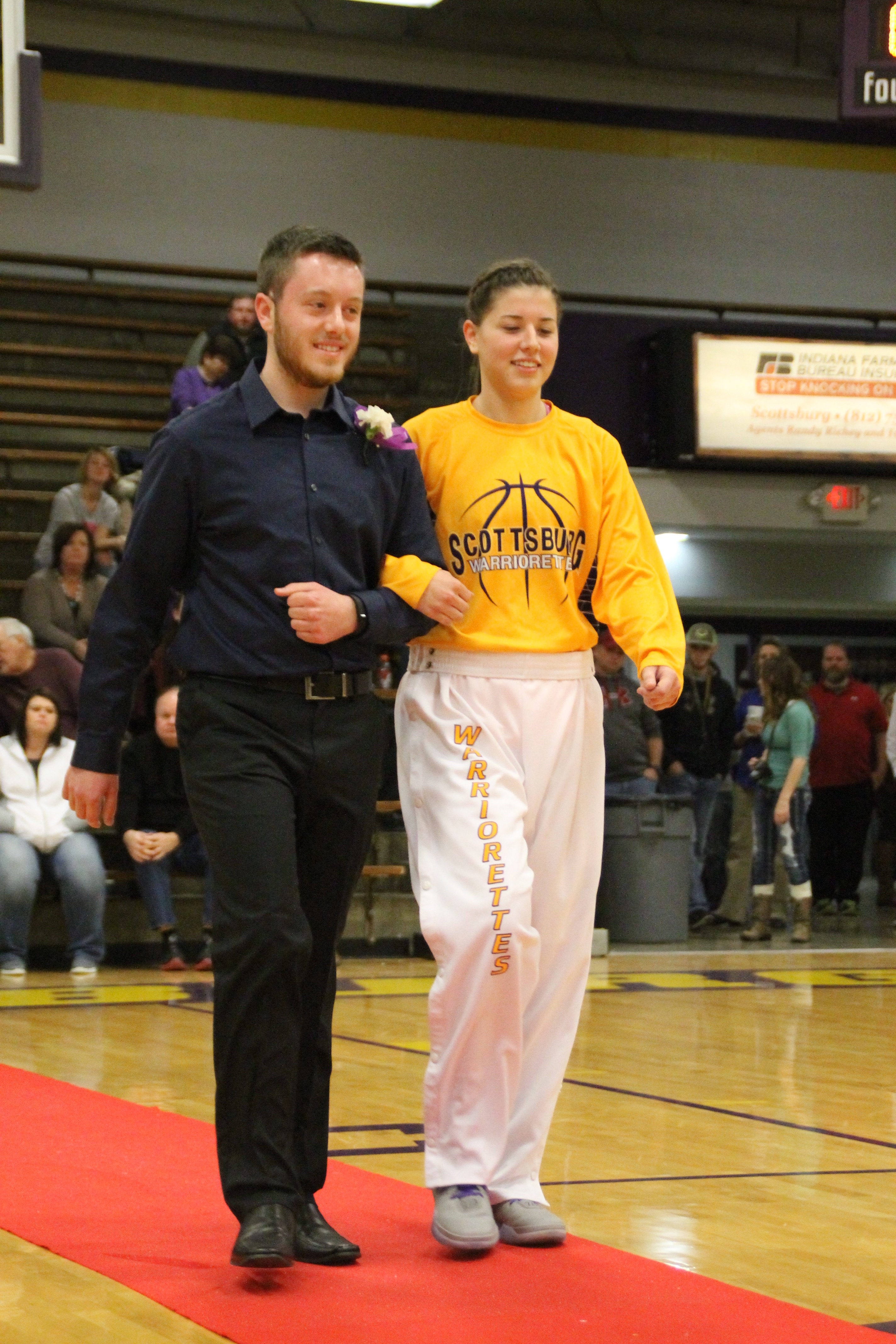 Allyssa Hall king's court homecoming ceremony 2015-16 – the booster