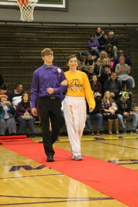 Sophomore Christian Smiley and his escort Kaitlyn Jennings