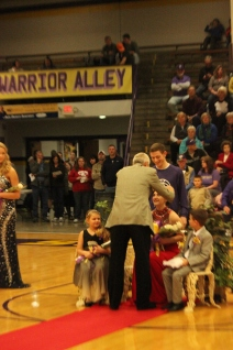 Photo by: Emilee Davidson --- Queen Victoria Rone is crowned.