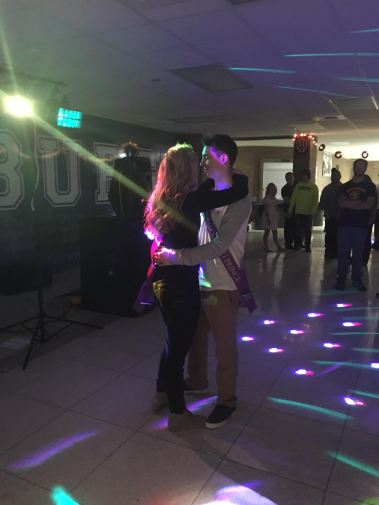 Photo provided by: Lindsey Boswell --- Prince and Priness Isaiah Walker and Emma Waskom enjoy their first dance together as royalty.